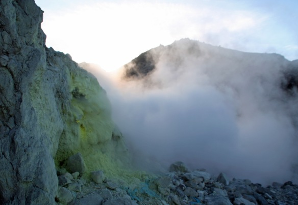 Must have started erupting steam while I was at the summit (!?)