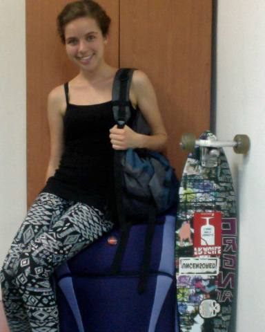 My entire life consist of 1 suitcase, a backback and a longboard!