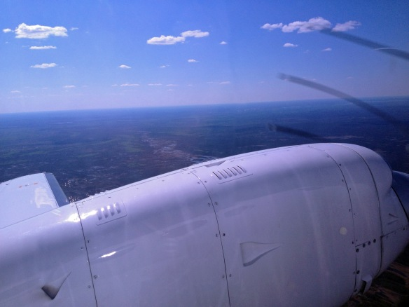 In a Boeing 737, you wouldn't be able to see the ground at all with a window right by the wing!