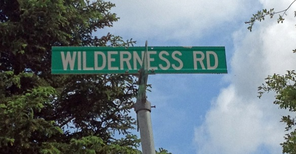 You know you're in the middle of nowhere when streets in town are called Wilderness Road!
