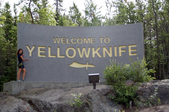It's a knife and it's yellow. So, Yellowknife!