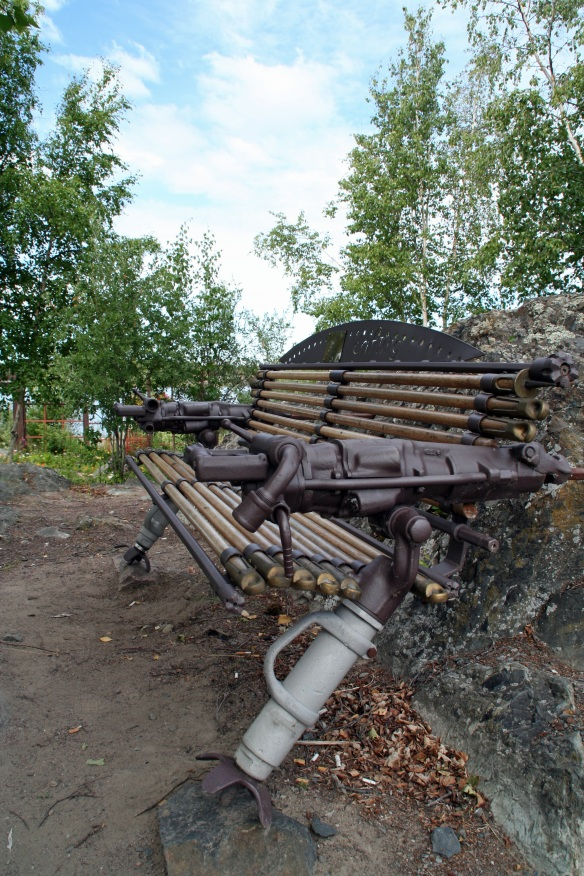 Yellowknife has steam-punk-y benches and gardens dedicated to Prince Will and Kate! How can you compete with that!?