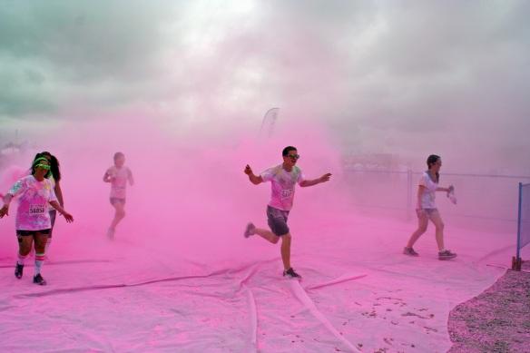 Whoo Hoo! Running through paint!