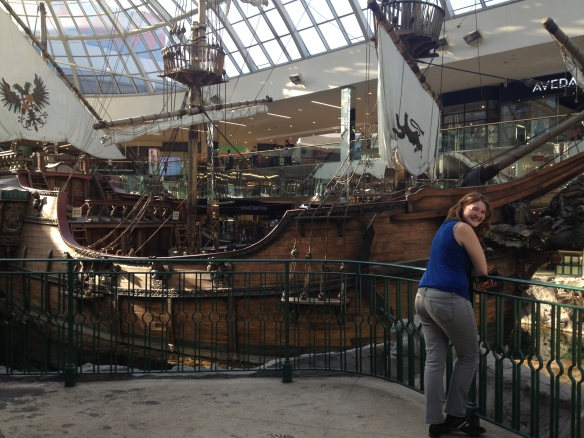 The mall has its own pirate ship for crying out loud!