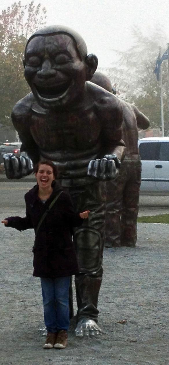 Yeah, I'm a statue!
