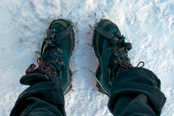 Dual point crampons for the win!