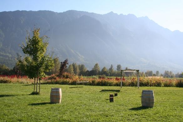 where the farmland meets the mountains <3