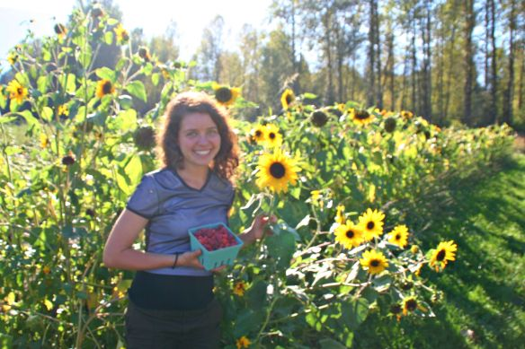 ... I eventually skipped my way over the the even happier sunflowers!
