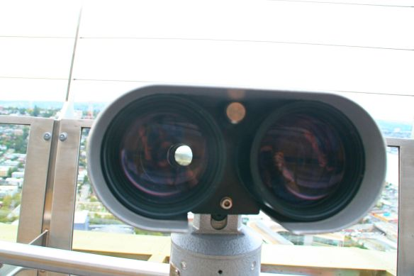 ...binoculars that looked a little bit like the robot Wall-E to be honest