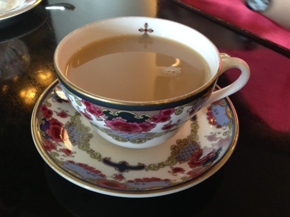 ... with specialty Empress Tea only available on-site during high tea!